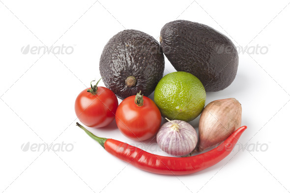 Ingredients for guacamole - Stock Photo - Images