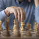 Elderly man playing chess at home - PhotoDune Item for Sale
