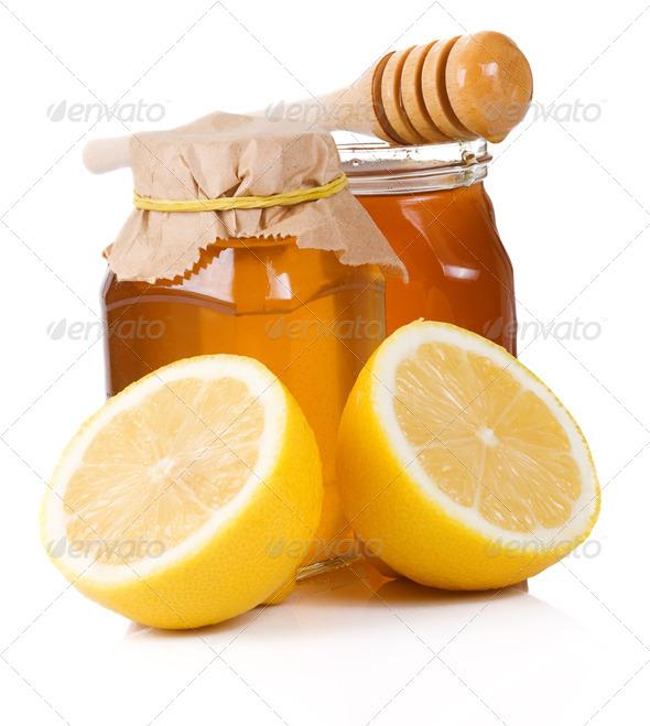 lemon andd honey - Stock Photo - Images