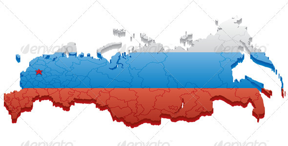 Russian Federation  - Travel Conceptual