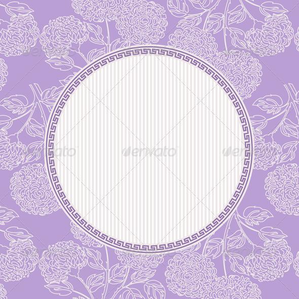 Vector Floral Frame - Backgrounds Decorative