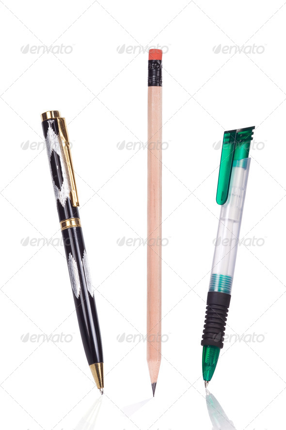 pen and pencil - Stock Photo - Images