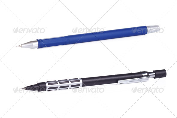 pencil and pen - Stock Photo - Images