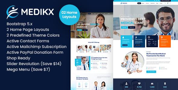 Medikx - Healthcare HTML Template