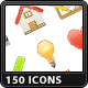150 Web & Software Icons - GraphicRiver Item for Sale