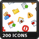 200 Mini Icons - GraphicRiver Item for Sale