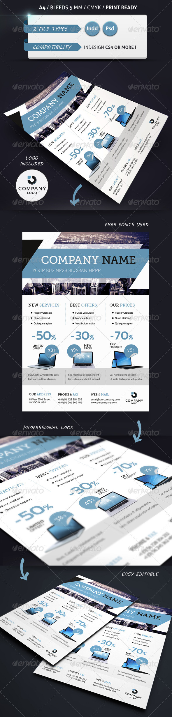 Corporate Business Flyer Template A4 - Corporate Flyers