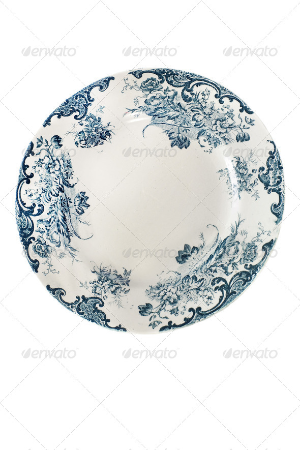 antique plate - Stock Photo - Images