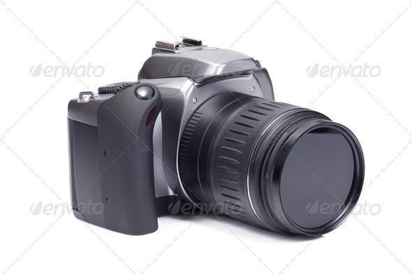 photo camera on white - Stock Photo - Images
