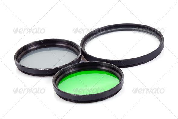 filter for lenses on white - Stock Photo - Images