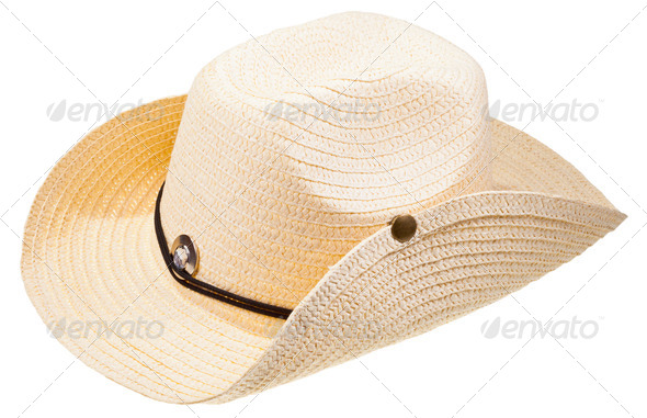 straw cowboy hat - Stock Photo - Images