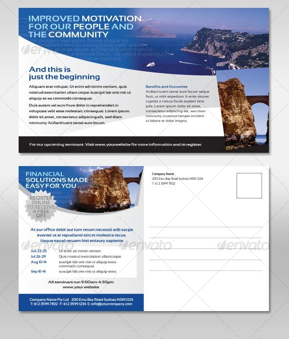Postcard Corporate Style Flyer - Corporate Flyers