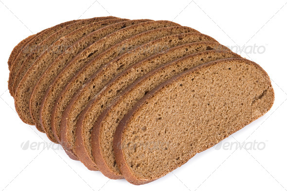 bread isolated on white background - Stock Photo - Images