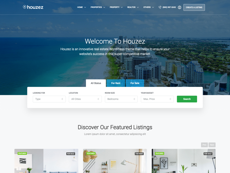 Houzez - WordPress real estate theme