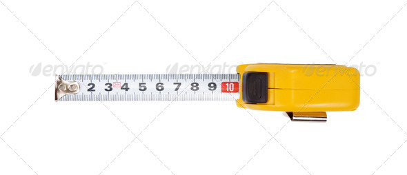 tape measure isolated on white - Stock Photo - Images