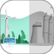 Clean Renewable Energy vs Pollution - VideoHive Item for Sale