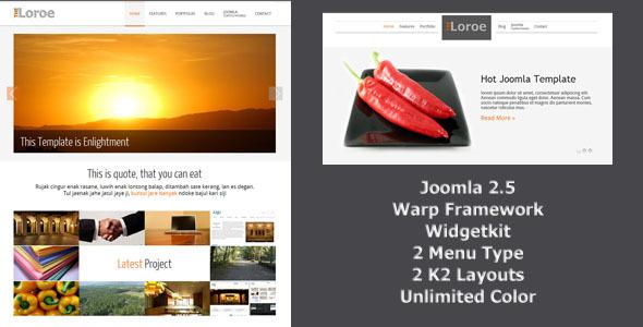 Loroe – Responsip Joomla Template