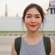 Traveler Asian woman feeling happy smiling to camera holiday trip at Bangkok, Thailand. - PhotoDune Item for Sale