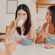 Asian women have breakfast at home. - PhotoDune Item for Sale