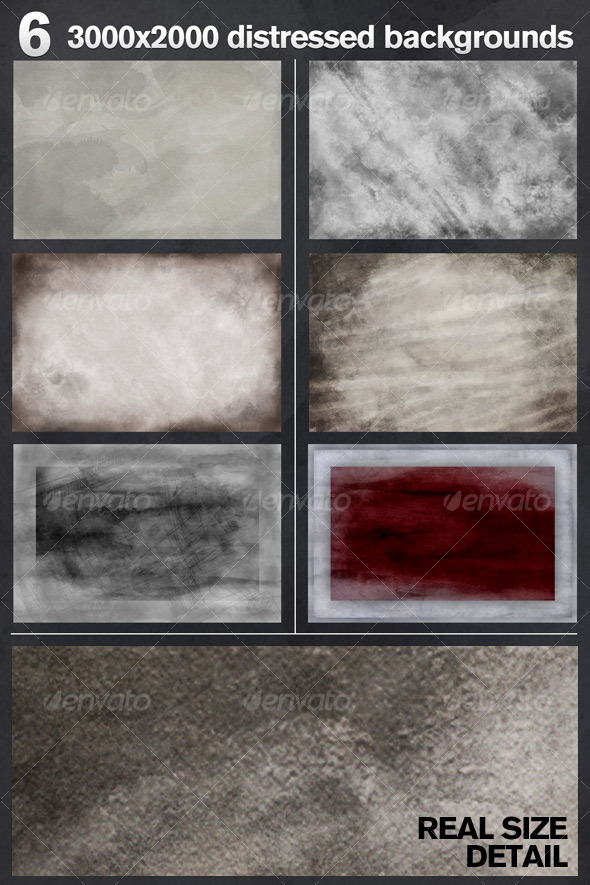 6 Distressed Backgrounds - Backgrounds Graphics