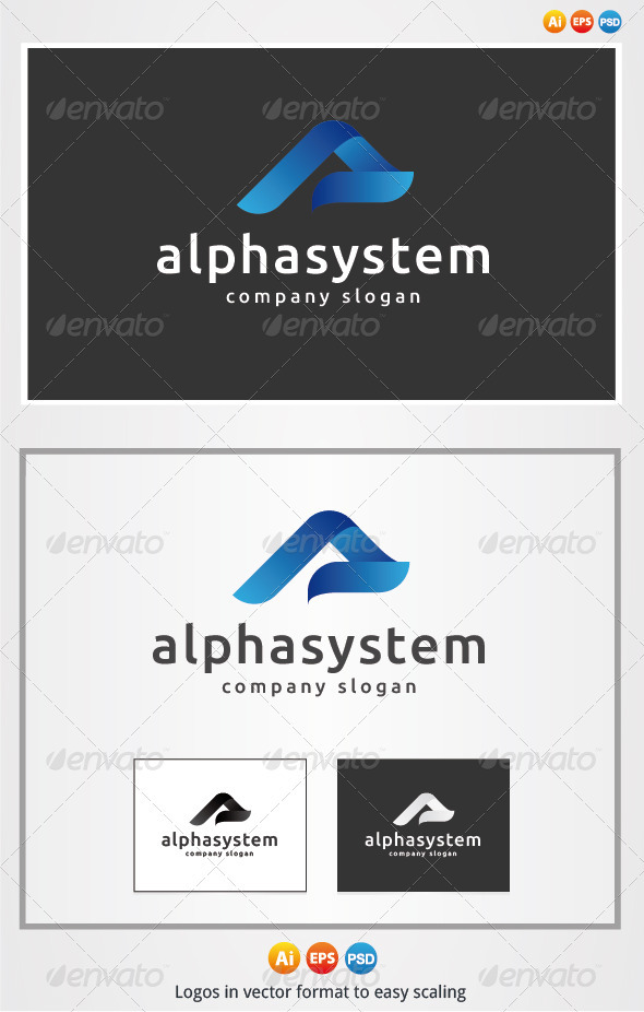 Alpha System Logo - Letters Logo Templates