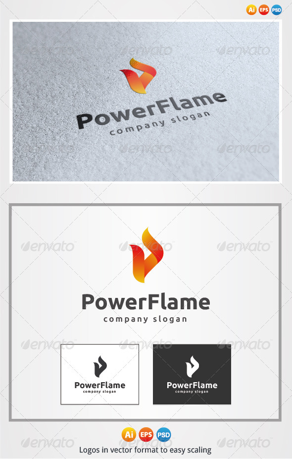 Power Flame Logo - Symbols Logo Templates