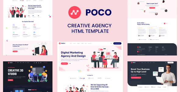 Poco - Bootstrap 4 Agency HTML Template