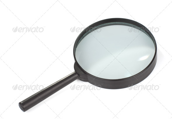 isolated magnifying glass isolated on white - Stock Photo - Images