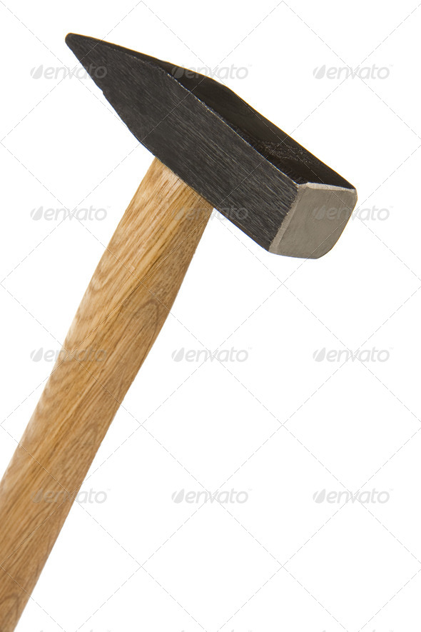 hammer isolated on white - Stock Photo - Images