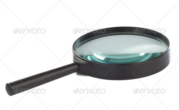 magnifying glass isolated on white - Stock Photo - Images