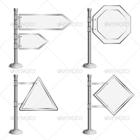 Set Poles with Traffic Signs - Concepts Business