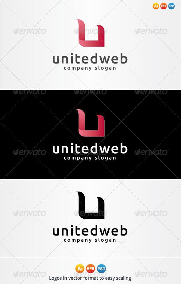 United Web Logo - Letters Logo Templates