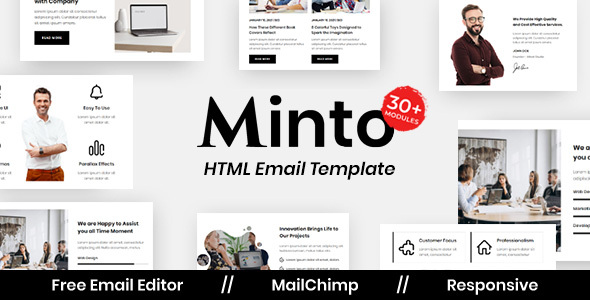 Minto Agency - Multipurpose Responsive Email Template
