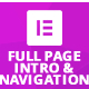 Full Page Intro And Navigation Addon for Elementor Page Builder
