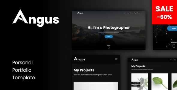 Angus - Personal Responsive One Page Portfolio Template