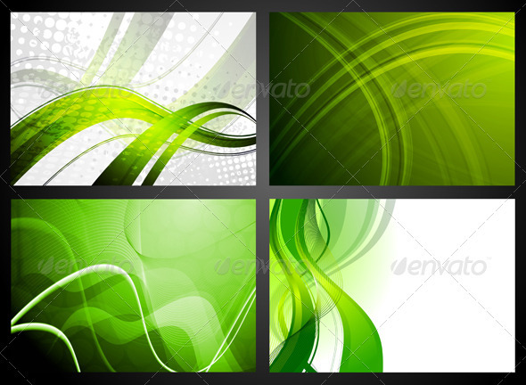 Set of green backdrops - Backgrounds Decorative
