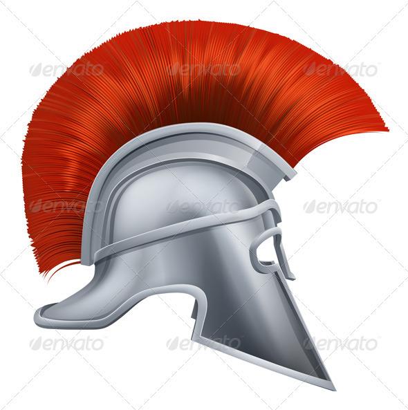 Ancient Greek Warrior Helmet - Man-made Objects Objects