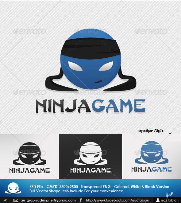Ninja Game Logo Template - Symbols Logo Templates