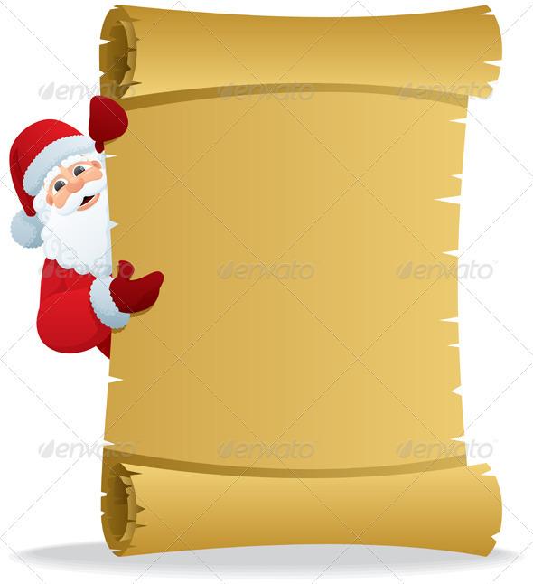 Santa Scroll 2 - Characters Vectors