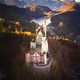 Aerial view of Neuschwanstein Castle with Alps mountains, Bavaria, Germany - PhotoDune Item for Sale
