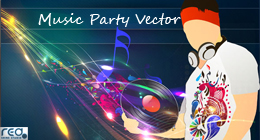 Music Party Vector Design