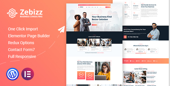 Zebizz - Business Consulting WordPress Theme