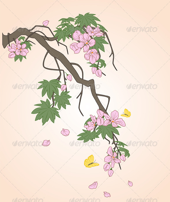 Flowering Branch - Vectors