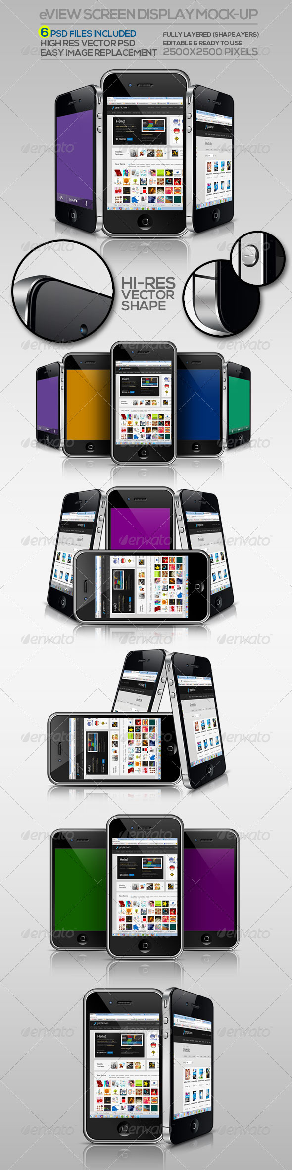 eView Screen Display Mock-up - Mobile Displays