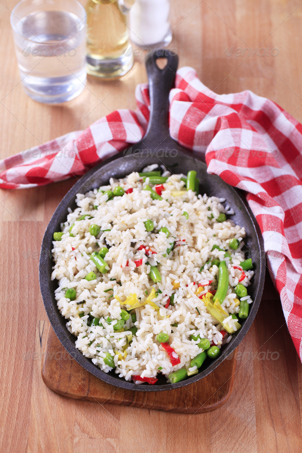 Vegetable fried rice - Stock Photo - Images