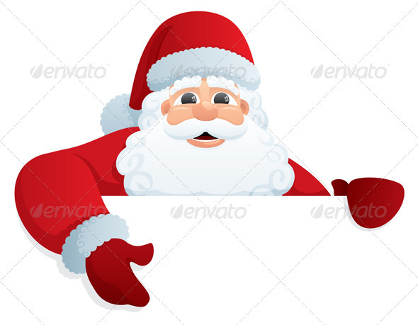 Santa Sign 2 - Christmas Seasons/Holidays