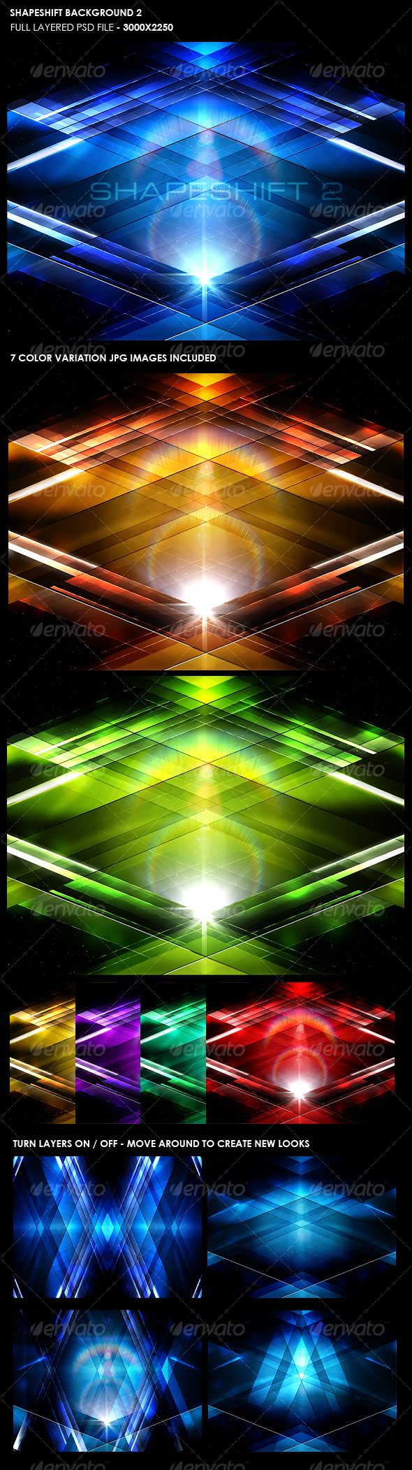Shape Shift Background 2 - Backgrounds Graphics