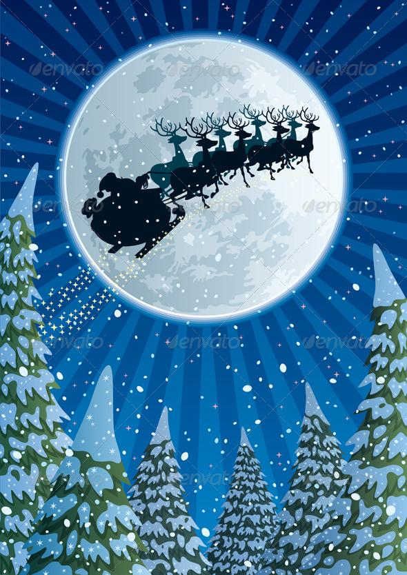 Santa Sleigh - Christmas Seasons/Holidays