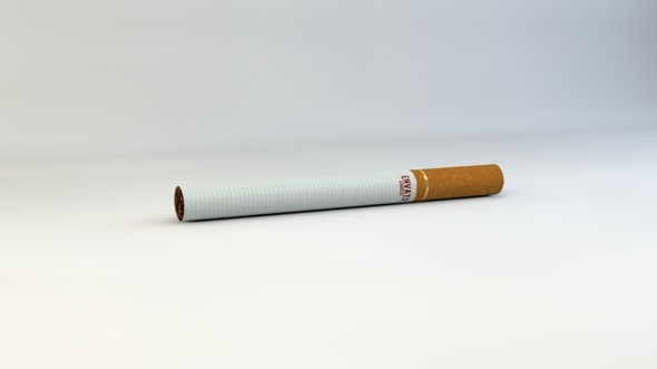 Realistic Cigarette Model - 3DOcean Item for Sale