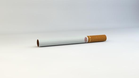 Realistic Cigarette Model - 3DOcean Item for Sale